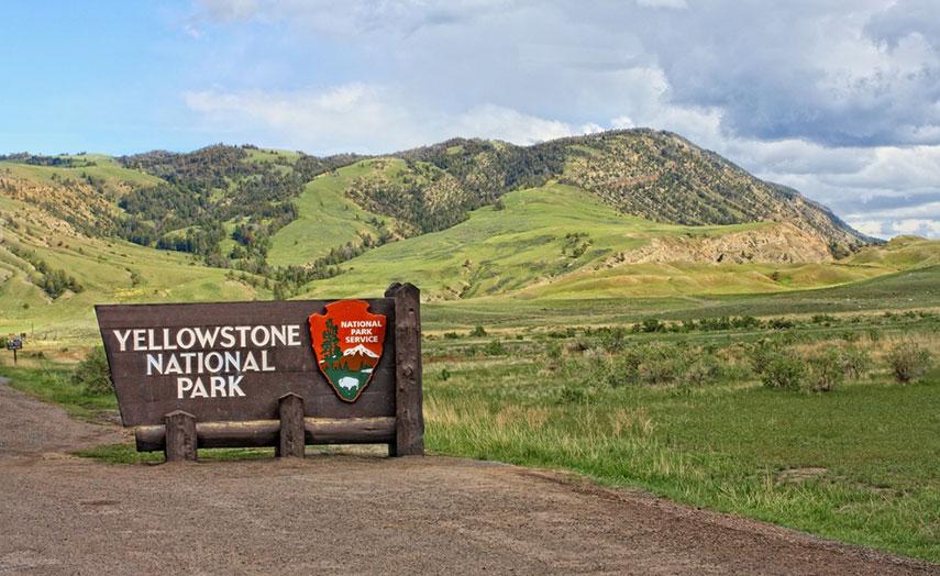 Eingang Yellowstone Park