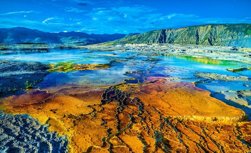Landschaft Yellowstone Nationalpark, Mammot Hots Springs