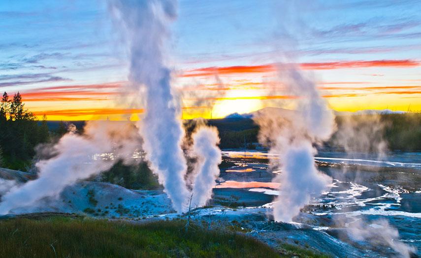 Geysir Norris Becken Yellowstone Nationalpark