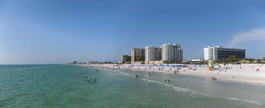 Clearwater Beach in Florida, Stadtstrand
