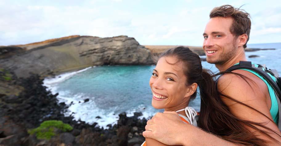 Paar Hochzeitsreise Hawaii USA Reise