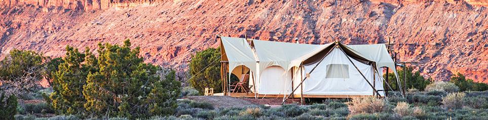 Glamping USA Luxus Zeltplatz in der Natur