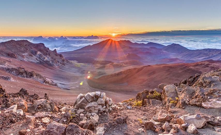 Haleakala Nationalpark Sonnenuntergang, Hawaii Urlaub