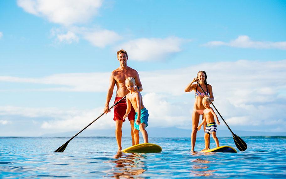 Hawaii mit Kindern Surfen