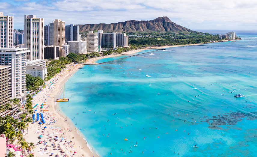 Hawaii Urlaub Waikiki Beach