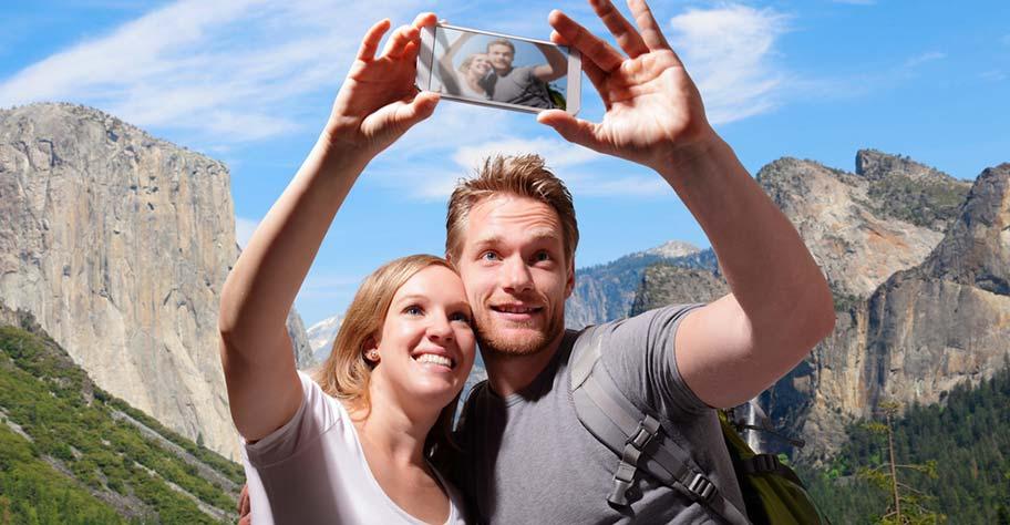 Hochzeitsreise Paar im Yosemite Nationalpark USA