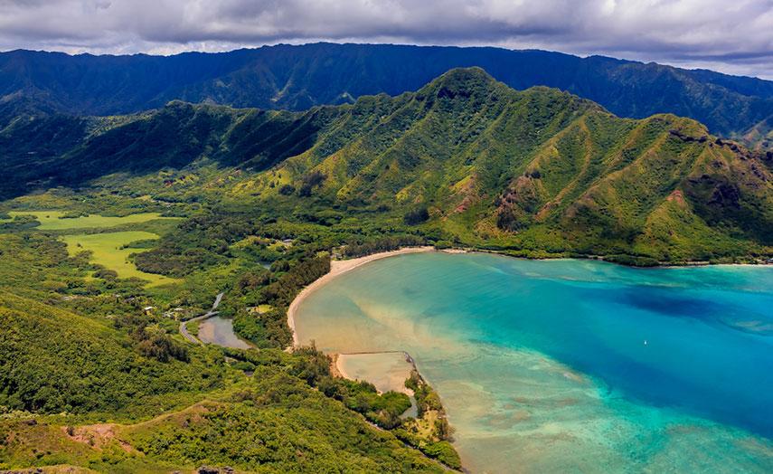 Insel Oahu Aerial
