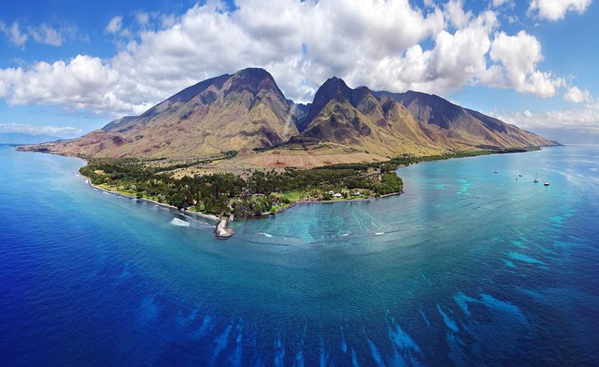 Insel Maui Aerial